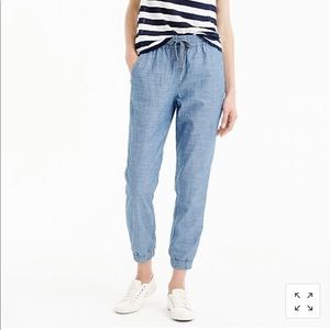 JCrew 00 point sur seaside pant chambray EUC